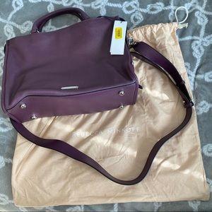 NWT Rebecca Minkoff purple Bedford zip satchel